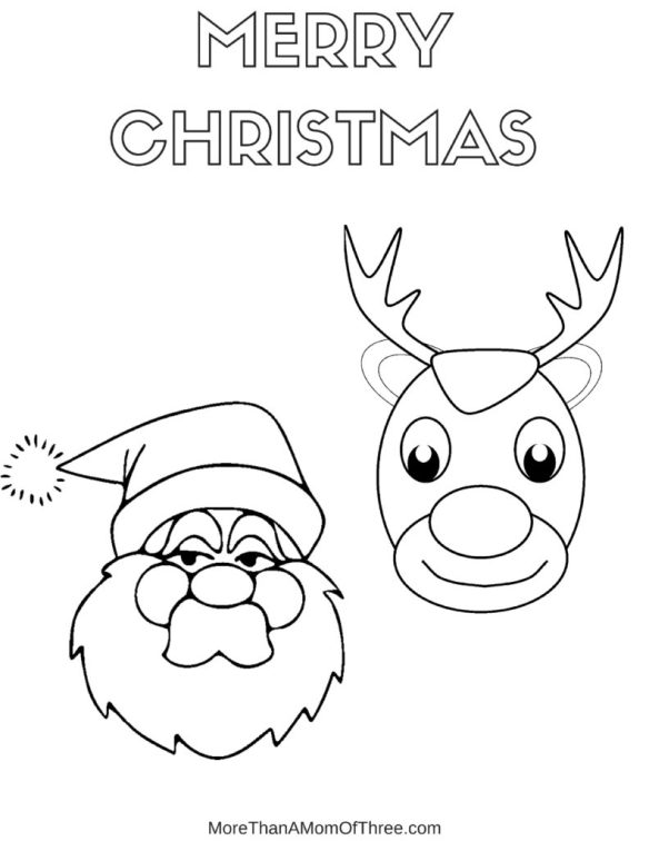 Rudolph & Santa Coloring Pages