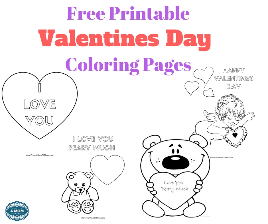 Free Valentines Day Coloring Pages Printables For Kids - More Than A ...