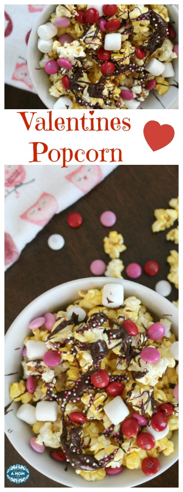 Valentines Day Chocolate Popcorn Cupid Crunch Mix Recipe