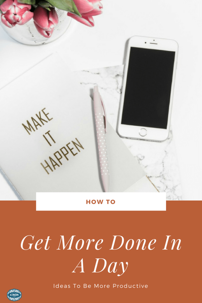 How to get more done in a day to be more productive. Check out my tips and tricks to feel more accomplished