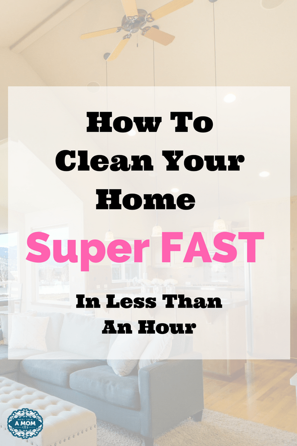 If you need to clean your house fast I got you covered momma! It's called speed cleaning and what if you could clean your whole home fast, I mean in under one hour.