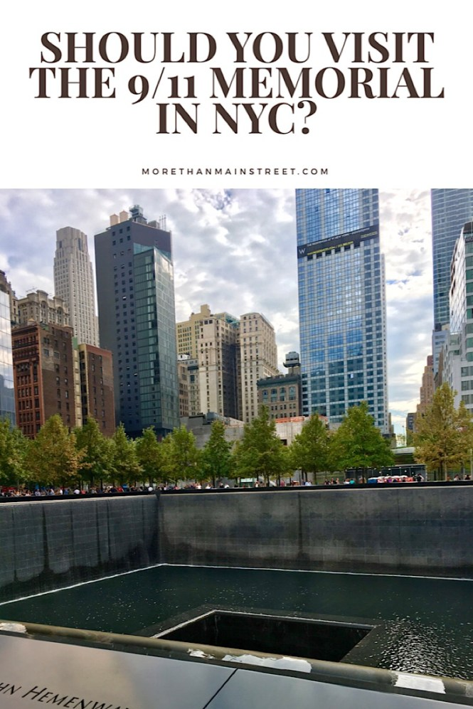 Visiting the World Trade Center Memorial in NYC.