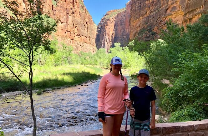 Riverside Walk Hike to the Narrows at Zion National Park.