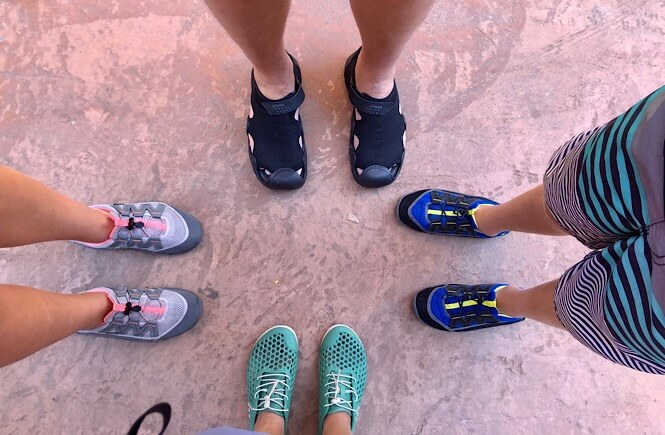Zion Narrows Day Hike: What You REALLY Need to Know Before You Go as featured by top US travel blog, More than Main Street; What shoes are best for hiking the Narrows at Zion?