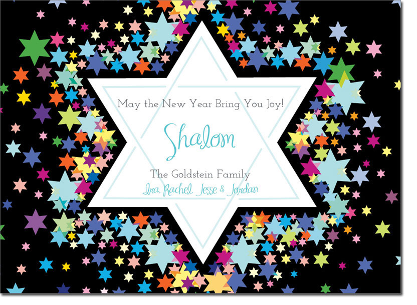 Noteworthy Collections Jewish New Year Cards Star Of