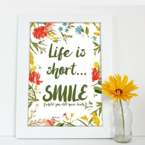 Life-Is-Short-Print-Framed