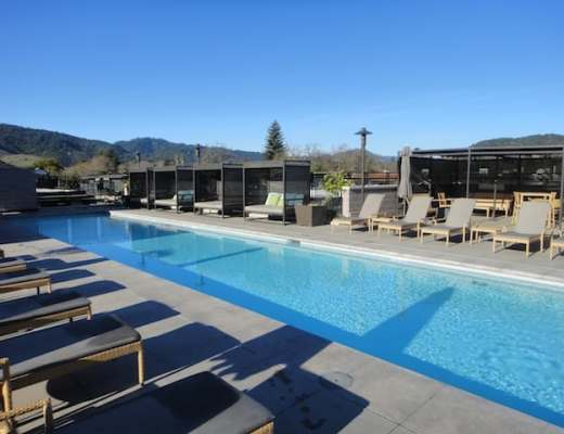 Green Luxury: Rooftop Pool at Bardessono, Yountville, California