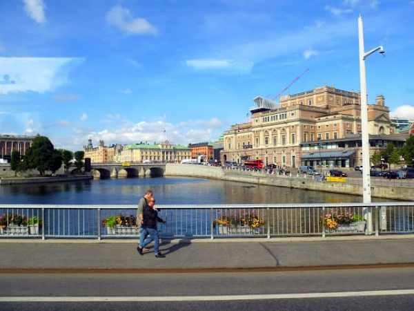 View of The Cube on top of the Royal Opera House in Stockholm