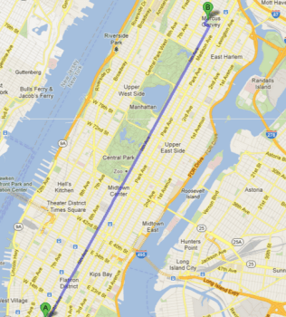 Fifth Avenue on Google Maps