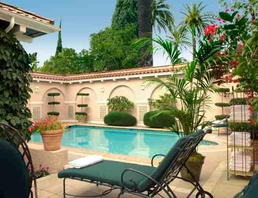 Private Pool at Presidential Bungalow at the Beverly Hills Hotel