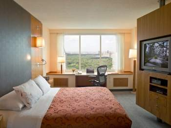 Room overlooking Central Park at the Parker Meridien