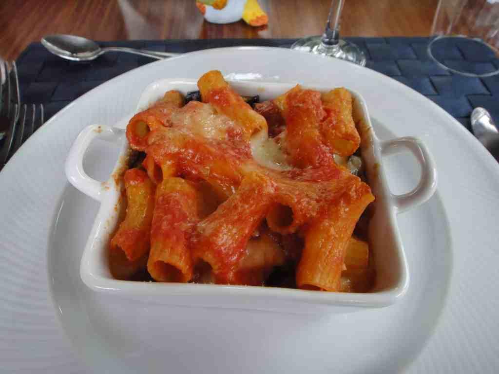 Layer gragnano pasta prepared at Villa Ida