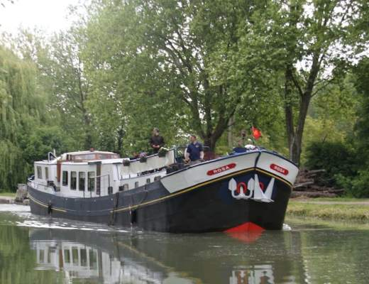 Rosa, one of the luxury hotel barges operated by European Waterways
