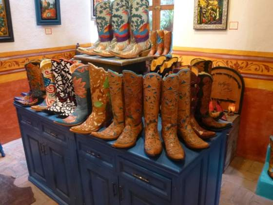 Handcrafted Boots at a Gallery