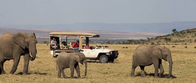 For the over-50 traveler: A four-wheel drive vehicle at Mahali Mazuri, Richard Branson's luxury tented camp in the Kenya Motorogi Conservancy (credit: Mahali Mzuri)