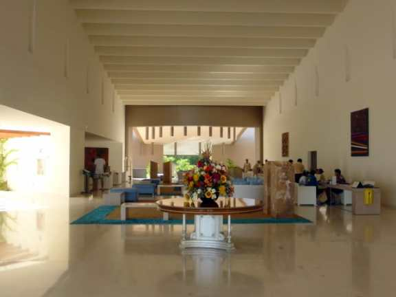 Entrance lobby at Secrets Huatulco