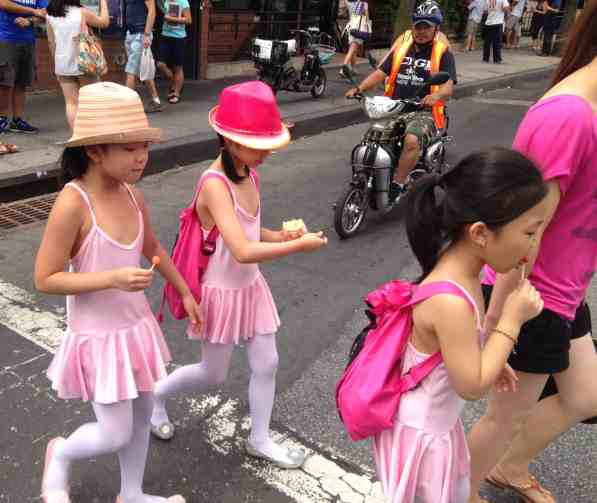 Young girls in Flushing today