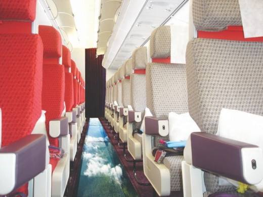 Virgin introduces a new glass-bottomed plane