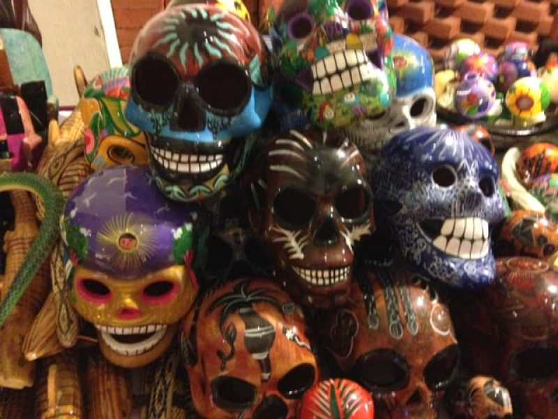 Painted masks in Huatulco