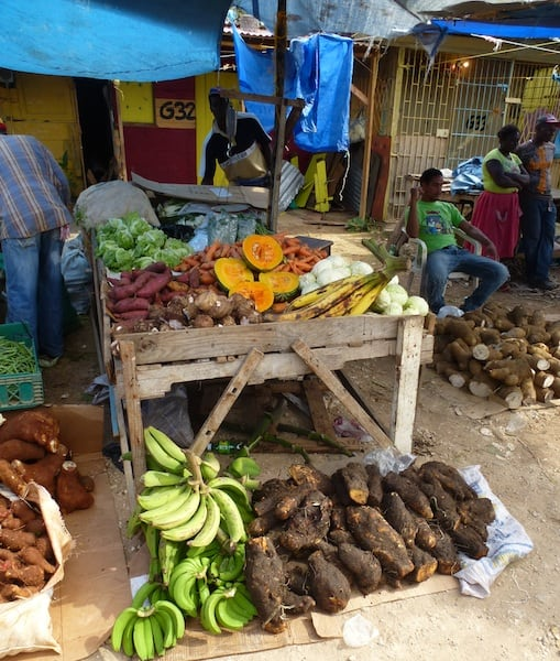 One of the stands at the Ocho Rios Market