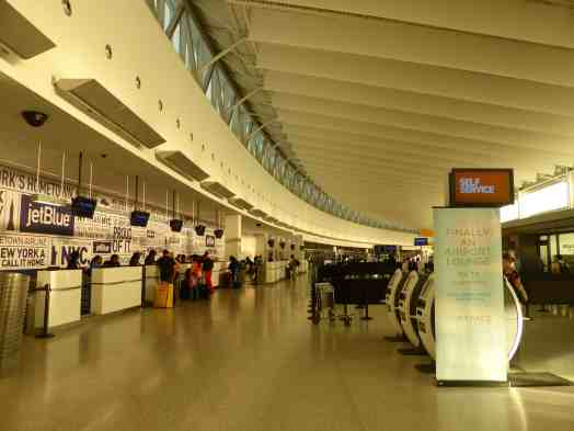 Ticket counters at Terminal 5 JFK