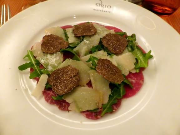 Beef Carpaccio with Black Truffles