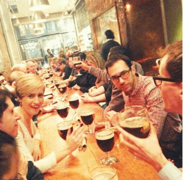 Long table at Irish Heather Gastropub (Credit: Irish Heather)