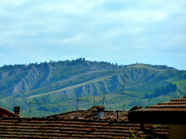 A view over the rooftops of Brisighella