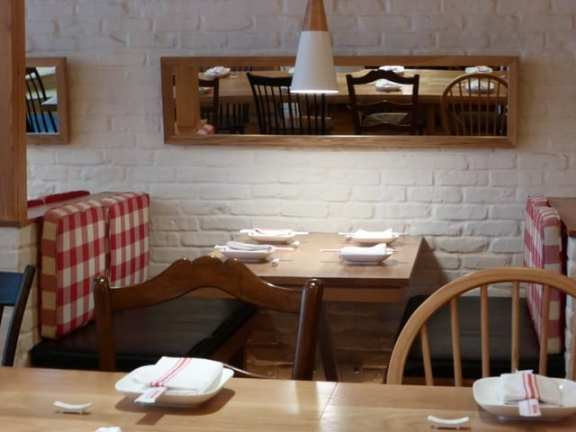 A banquette at RedFarm