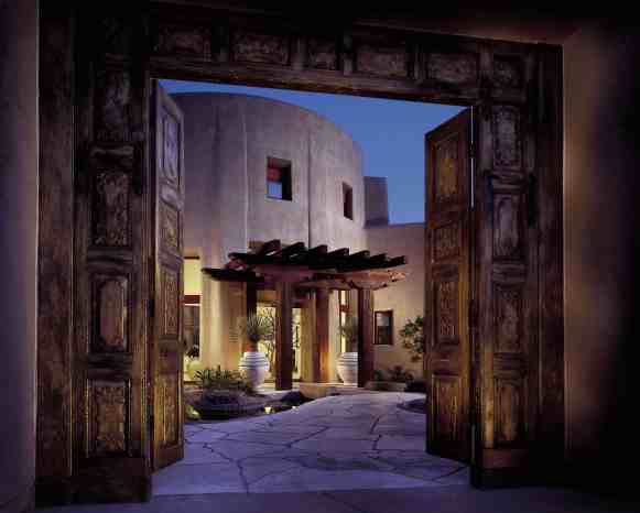 Doors to the Waldorf-Astoria Spa at the Boulders (Photo credit: The Boulders)