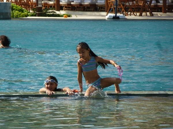 Kids having fun at Ambassador Class pool