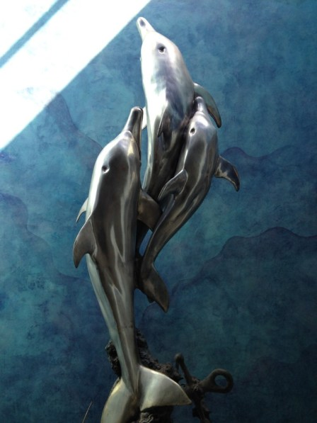 Dramatic hallway sculpture