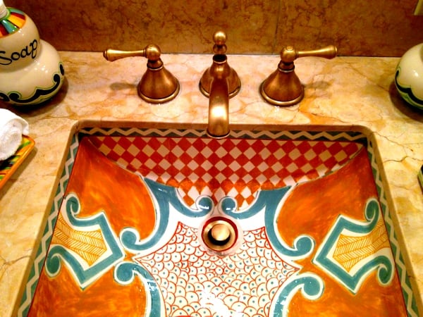 Hand-painted sinks
