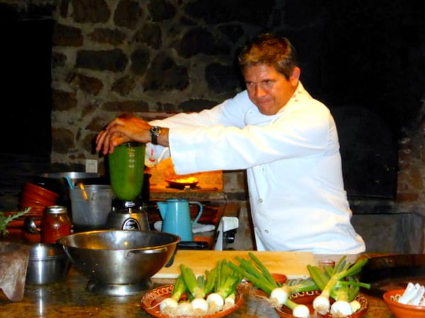 Chef Silva in his outdoor kitchen/classroom