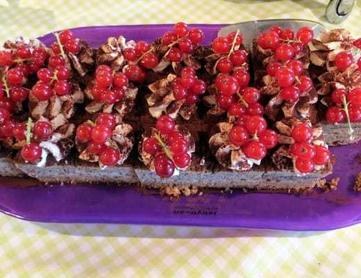 Chocolate Dessert Topped with Lingonberries (Credit: Jerome Levine)