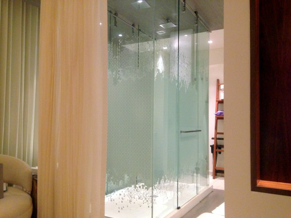 Shower with optional privacy curtain