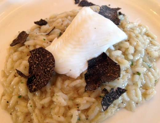 Truffled risotto, the standout dish