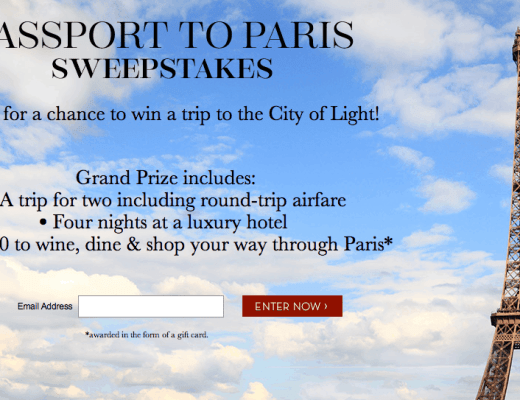 Passport to Paris Sweepstakes