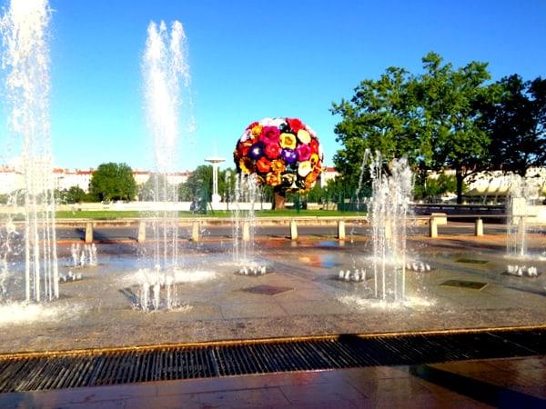 Fountains near the Flower Tree Sculpture