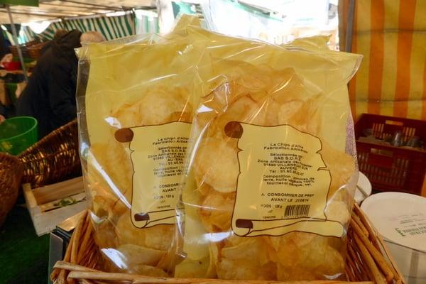 Artisan potato chips