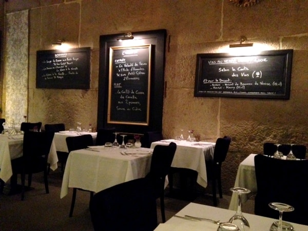 Dining room at Archange