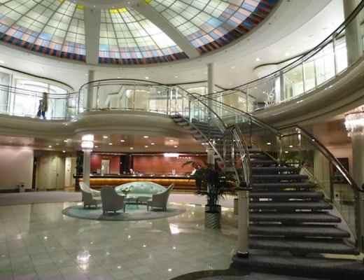 Atrium lobby of the Crystal Symphony
