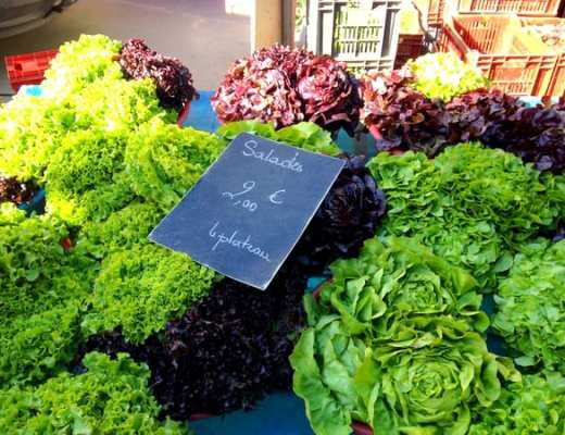 Fresh salad greens at Carnot Market