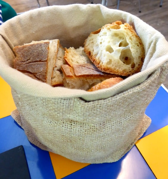 Bread presentation at our table