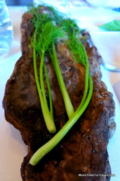 Fennel served on bark