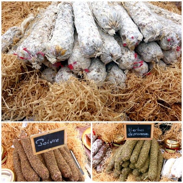 Different sausage varieties