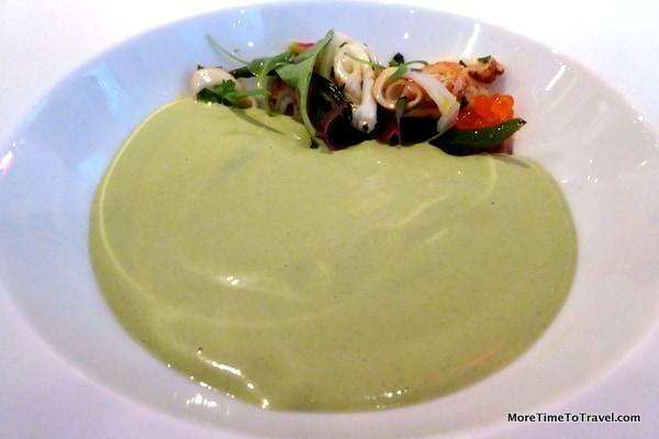 Cold pistachio soup