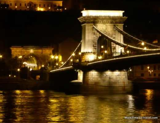 Chain Bridge over the Danube connecting Buda and Pest
