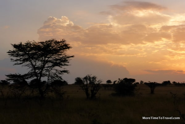 Sunset at the Olare Orok Conservancy