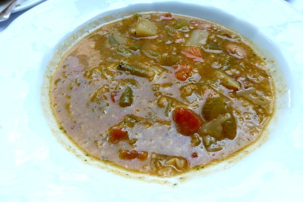 Minestrone at Barbetta